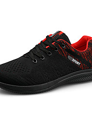 cheap -Men's Light Soles Tissage Volant Spring & Summer Sporty Athletic Shoes Running Shoes Breathable Color Block Black / White / Black / Red