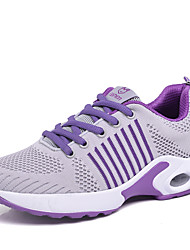 cheap -Women's Athletic Shoes Flat Heel Round Toe Tissage Volant Sporty / Casual Running Shoes / Fitness & Cross Training Shoes Spring &  Fall Black / White / Black / Red / Purple / Color Block