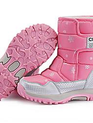 halpa -Tyttöjen Talvisaappaat Mokkanahka Bootsit Pikkulapset (4-7 vuotta) Musta / Purppura / Pinkki Talvi / Säärisaappaat