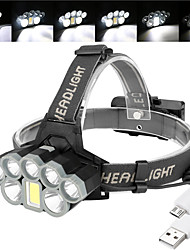cheap -BRELONG® Headlamps Headlight Waterproof 1000 lm LED 8 Emitters 6 Mode with Batteries and USB Cable Waterproof Easy Carrying Creepy Camping / Hiking Hunting Fishing Cold White Light Source Color