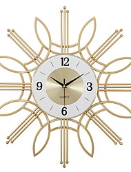cheap -Wall Clock Home Decoration Fashion Creative Fashion Watches and Clocks, Wall Clock Flower Clock Electronic Mute The Size of 60cm 60cm Nordic Gold Wrought Iron Wall Clock