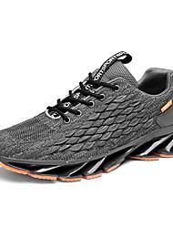 cheap -Men's Comfort Shoes Tissage Volant Winter Athletic Shoes Mid-Calf Boots Black / Gray