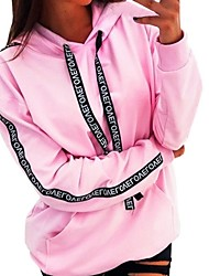 cheap -Women's Hoodie Solid Colored Casual Hoodies Sweatshirts  Black Blue Red