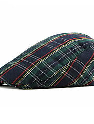 cheap -Men's Unisex Basic Polyester Beret Hat-Striped Color Block Fall Red Navy Blue Khaki