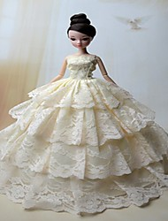 cheap -Doll Dress Wedding For Barbiedoll Polyester Dress For Girl's Doll Toy