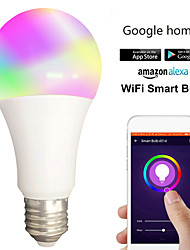 cheap -1pc 12 W LED Globe Bulbs LED Smart Bulbs 700 lm B22 E26 / E27 30 LED Beads APP Control Smart Timing Multi-colors 85-265 V