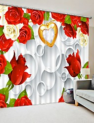 cheap -Red Rose Digital Printing 3D Curtain in Front of Stereo Background Shading Curtain High Precision Back Silk Fabric High Quality Curtain