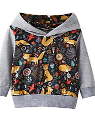cheap -Baby Boys' Street chic Print Long Sleeve Hoodie & Sweatshirt Gray