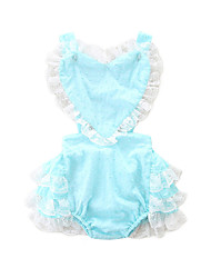 cheap -Baby Girls' Active Solid Colored Lace up / Lace Trims Sleeveless Overall & Jumpsuit Blushing Pink