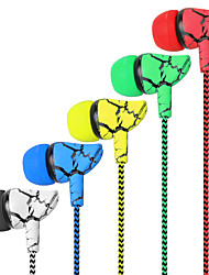 cheap -Original In-ear Earphone Crack Braided Wired With Microphone 5 Color Headset Hifi Earbuds Bass Earphones High Quality Ear Phones