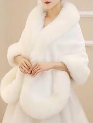 cheap -Sleeveless Shawls / Capes Faux Fur / Imitation Cashmere / Fox Fur Wedding / Party / Evening Women's Wrap With Fur
