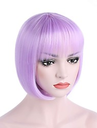 cheap -quality synthetic hair light blue anime cosplay costume short bob wig Halloween
