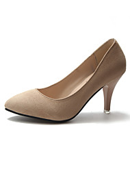 cheap -Women's Heels Stiletto Heel Pointed Toe Microfiber / PU Spring &  Fall / Spring & Summer Pink / Black / Beige / Party & Evening / Party & Evening