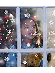 cheap -SK6012 creative personality Christmas snowflake New Year window decoration wall stickers glass window sticker door stickers