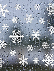 cheap -Creative Snowflake Christmas New Year Supplies Wall Sticker Glass Window Background Decoration Static Sticker AMJ301 White