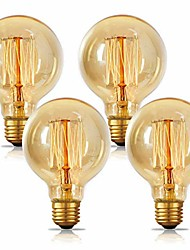 cheap -4-Pack Incandescent Edison Light Bulb G80 Antique Vintage Style Light Amber Warm e26/e27 Base(40w/220v)