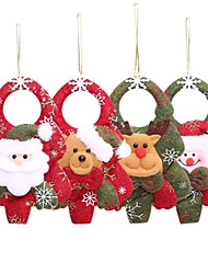 cheap -Christmas Tree Decorations For Home Pendant Santa Doll Door Window Hanging Ornaments New Year 2020 Navidad 2019 Gift Supplies