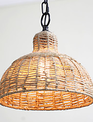 abordables -HEDUO bol Lampe suspendue Lumière dirigée vers le bas corde de chanvre 110-120V / 220-240V