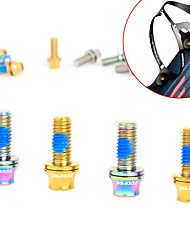 cheap -Screws High Strength Durable Easy to Install For Road Bike Mountain Bike MTB Cycling Bicycle Titanium Alloy Gold Blue Grey