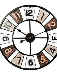 Недорогие -красочные старинные настенные часы, большие настенные часы деревенский ретро металлический декор стен
