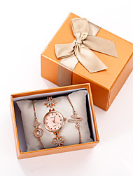cheap -Women's Quartz Watches New Arrival Elegant Rose Gold Stainless Steel Chinese Quartz Rose Gold Chronograph Cute Adorable 3 Pieces Analog One Year Battery Life