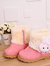cheap -Girls' Snow Boots Pigskin Boots Little Kids(4-7ys) Yellow / Peach / Pink Winter / Booties / Ankle Boots