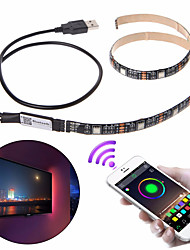 cheap -1set DC5V USB LED strip 5050 RGB 2m Bluetooth APP Control Flexible Light TV Background Light RGB LED Tape