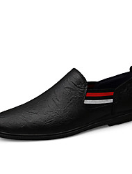 cheap -Men's Leather Shoes Nappa Leather / Cowhide Spring / Fall & Winter Business / Casual Loafers & Slip-Ons Walking Shoes Waterproof Black / Brown
