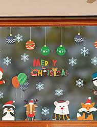 Недорогие -Новое рождество милый Санта Клаус синий снежинка северный олень внешняя торговля гостиная стеклянное окно стикер mu80015