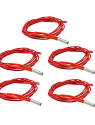 cheap -12V 40W 3D Printer Cartridge Heater 5pcs/lot Tube Heat Reprap Mendel For HotEnd J-Head 3D Printer Parts