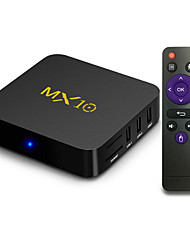 cheap -MX10 Smart Android 9.0 TV Box RK3328 4K VP9 H.265 HDR10 USB3.0 4GB / 64GB DLNA Miracast WiFi LAN HD Media Player