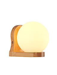 cheap -Modern / Nordic Style Wall Lamps & Sconces Living Room / Bedroom Wood / Bamboo Wall Light 110-120V / 220-240V