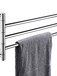 cheap -Towel Bar Premium Design / Cool Contemporary Stainless Steel 1pc 4-towel bar Wall Mounted