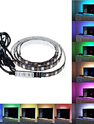 cheap -1set USB LED Strip DC5V 5050 RGB Mini 3Key Remote Flexible Light IP65 1m TV Background Lighting Ribbon Tape
