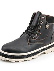 cheap -Men's Combat Boots PU Winter Boots Black / Brown / Gray / Outdoor