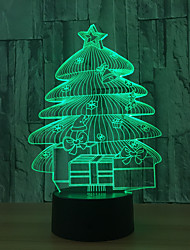 cheap -Christmas Tree 3d Night Light Unique Colorful Led Touch  Desk Lamp Usb