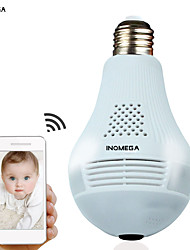 cheap -INQMEGA 960P Cloud Wireless IP Camera Bulb Light Panoramic Home Security Surveillance 360 Degree 3D VR CCTV WIFI Camera