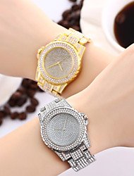 cheap -Women's Ladies Luxury Watches Bracelet Watch Diamond Watch Quartz Stainless Steel Silver / Gold / Rose Gold Water Resistant / Waterproof Creative Imitation Diamond Analog Charm Sparkle Casual Bangle