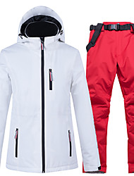 cheap -ARCTIC QUEEN Women's Ski Jacket with Pants Winter Sports Thermal / Warm Waterproof Windproof Cotton POLY Clothing Suit Ski Wear