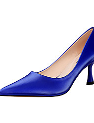 cheap -Women's Heels Stiletto Heel Pointed Toe PU Minimalism Spring & Summer Black / Almond / Yellow / Party & Evening