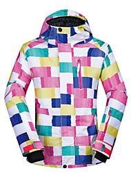 cheap -MUTUSNOW Women's Ski Jacket Skiing Snowboarding Winter Sports Waterproof Windproof Warm Polyester Jacket Ski Wear