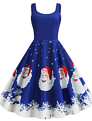 cheap -Mrs.Claus Dress Women's Adults Christmas Christmas Christmas Polyester Dress