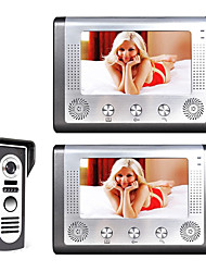 cheap -MOUNTAINONE SY801M12 Wired Built in out Speaker 7 inch Hands-free One to Two video doorphone