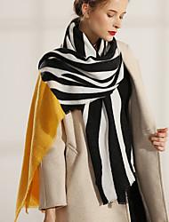 Недорогие -Жен. Активный / Симпатичные Стиль Прямоугольный платок Полоски / Контрастных цветов