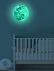 cheap -Moonlight Glow in the Dark Moon Wall Decal Sticker Decorative Removable Wall Decals Stickers for Bedroom and Children's Room