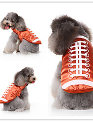 cheap -Dog Cat Dress Tuxedo Vest Fashion Christmas Dog Clothes Orange Costume Polyester Canvas Mixed Material S M L XL
