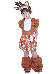 cheap -Reindeer Dress Girls' Kid's Costume Party Christmas Christmas Polyester Dress / Headwear / Bracelet / Bangle / Headpiece