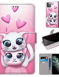 cheap -Case For Apple iPhone 11 / iPhone 11 Pro / iPhone 11 Pro Max Wallet / Card Holder / with Stand Full Body Cases PU Leather / TPU