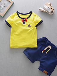 cheap -Baby Boys' Basic Print Short Sleeve Regular Regular Clothing Set Light Blue