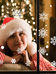 Недорогие -Новый год Рождество окно стекло украшения окна стикеры стены Рождество Снеговик Снеговик наклейки abq6001